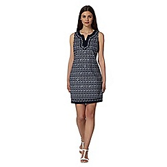 The Collection - Navy diamond print embellished dress
