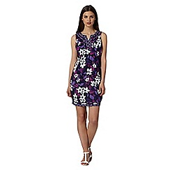 The Collection - Purple floral print embellished dress