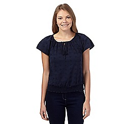 The Collection - Navy broderie gypsy top