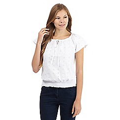 The Collection - White broderie gypsy top