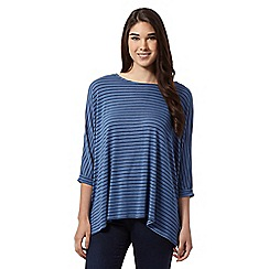 The Collection - Navy striped jersey top