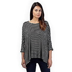 The Collection - Black striped jersey top