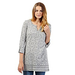 The Collection - Grey tiled print tunic top