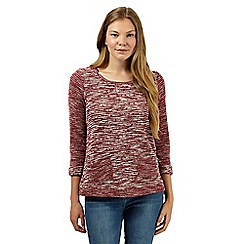 The Collection - Dark red striped and spotted knit tunic