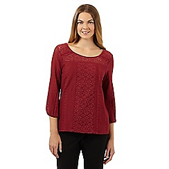 The Collection - Dark red all over lace top
