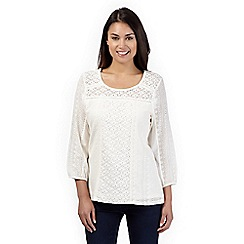 The Collection - Ivory floral lace top