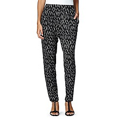 The Collection - Black dash print trousers