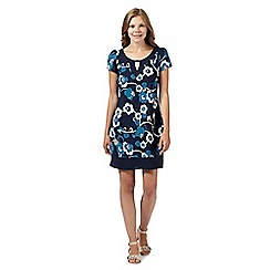 The Collection - Navy vine floral keyhole dress