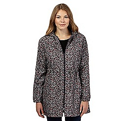 The Collection - Dark red splash printed shower resistant pack-away mac jacket
