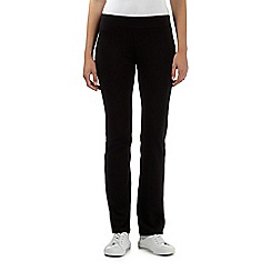 The Collection - Black slim leg jersey trousers