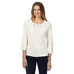 The Collection - Cream floral yoke bubble top