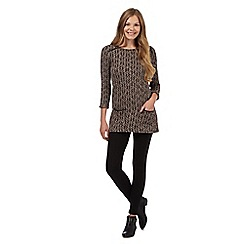 The Collection - Brown zig zag knit tunic