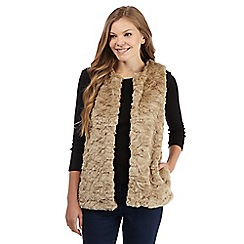 The Collection - Natural faux fur gilet