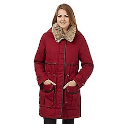 The Collection - Red military parka coat