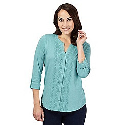The Collection - Light green jersey lace panel shirt