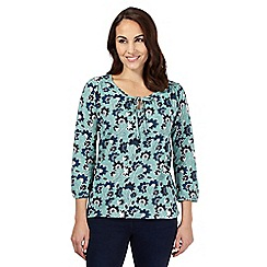 The Collection - Turquoise floral print shirt