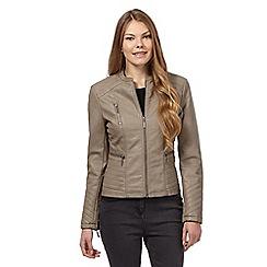 The Collection - Light grey biker jacket