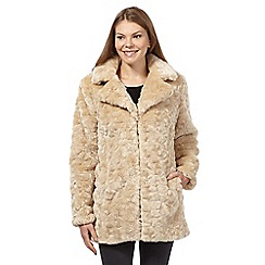The Collection - Beige faux fur coat