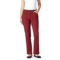 The Collection - Dark red stretch slim leg jeans