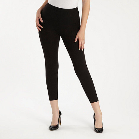 The Collection - Black cropped leggings