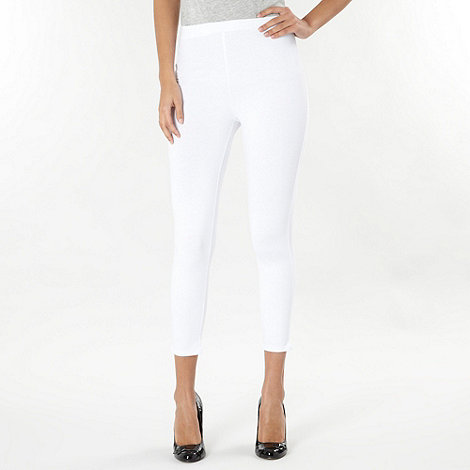 The Collection - White cropped leggings