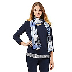 The Collection - Navy scoop neck top and scarf