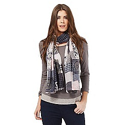 The Collection - Grey scoop neck top and scarf