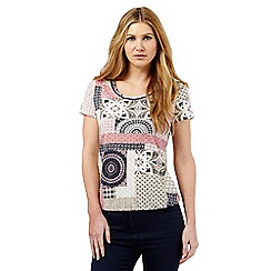 The Collection - Pink geometric patchwork print  bubble top