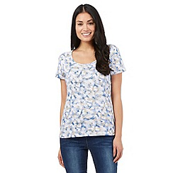 The Collection - Light blue butterfly print top