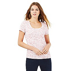 The Collection - Pink spiral laurel top