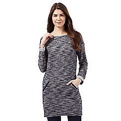 The Collection - Navy textured tunic