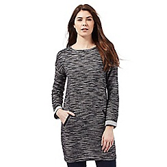 The Collection - Black textured tunic