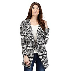 The Collection - Navy Aztec blanket cardigan