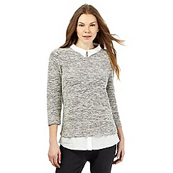 The Collection - Grey mock jumper and shirt top
