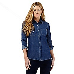 The Collection - Dark blue denim shirt