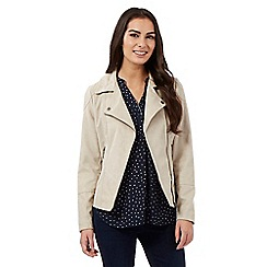 The Collection - Beige suedette jacket