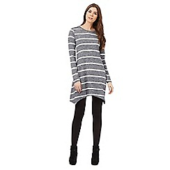 The Collection - Grey stripe swing dress