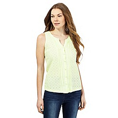 The Collection - Lime button cut-out sleeveless top