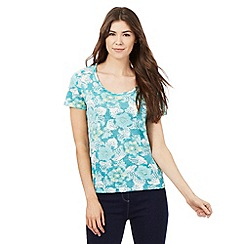 The Collection - Aqua floral print t-shirt