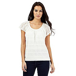 The Collection - Cream lace bubble top