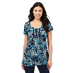 The Collection - Navy floral print tunic