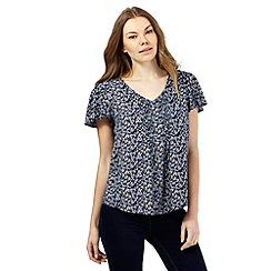 The Collection - Navy fossil print sequin top