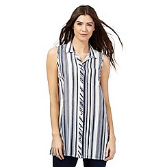 The Collection - Navy striped print tunic