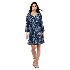 The Collection - Navy printed shirt dress