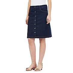 The Collection - Blue denim button fastening skirt