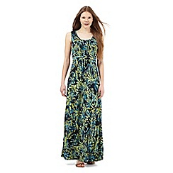The Collection - Lime sea stencil maxi dress