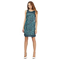 The Collection - Green sea fossil print dress