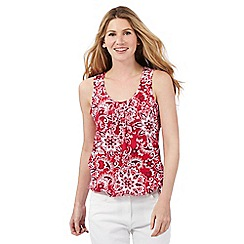 The Collection - Red floral print bubble hem top