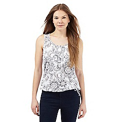 The Collection - White floral print bubble hem top