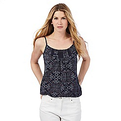 The Collection - Navy dot patterned vest top